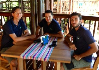 Our Costa Rican Guides flanking Cesar Gu